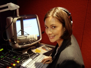 As a rookie newsreader in the i98-FM newsroom